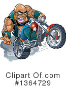 Royalty-Free (RF) Biker Clipart Illustration #1364729