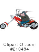 Royalty-Free (RF) biker Clipart Illustration #210484