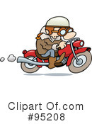 Royalty-Free (RF) Biker Clipart Illustration #95208