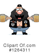 Royalty-Free (RF) Biker Dude Clipart Illustration #1264311