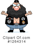 Royalty-Free (RF) Biker Dude Clipart Illustration #1264314