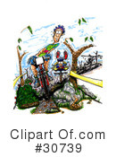 Royalty-Free (RF) bikes Clipart Illustration #30739