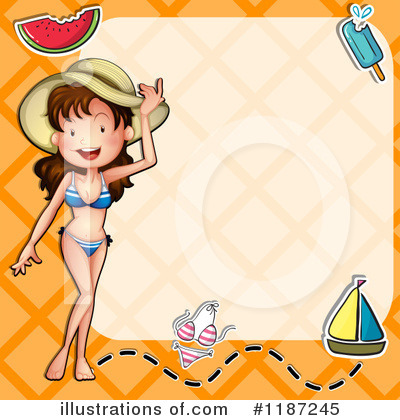Beach Woman Clipart #1187245 by Graphics RF