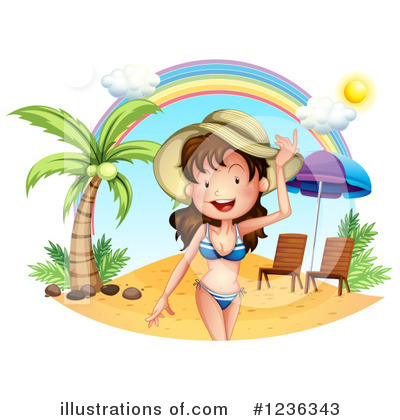 Beach Woman Clipart #1236343 by Graphics RF