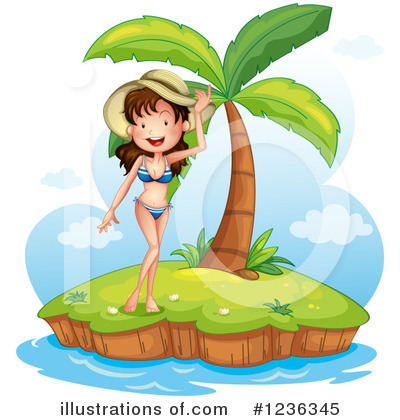 Beach Woman Clipart #1236345 by Graphics RF