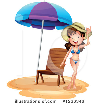 Beach Woman Clipart #1236346 by Graphics RF
