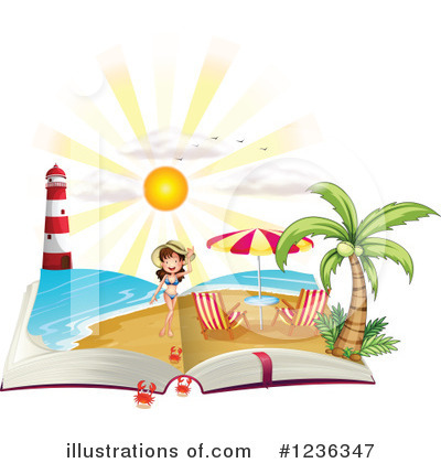 Beach Woman Clipart #1236347 by Graphics RF