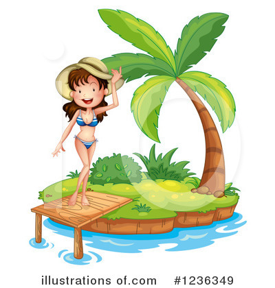 Beach Woman Clipart #1236349 by Graphics RF