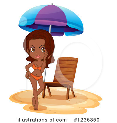 Beach Woman Clipart #1236350 by Graphics RF