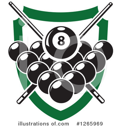 Billiards Clipart #1265969 by Vector Tradition SM