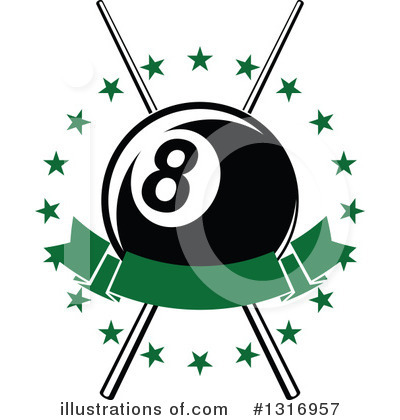 Billiards Clipart #1316957 by Vector Tradition SM