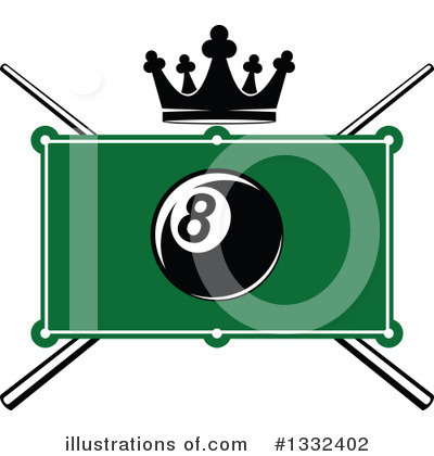Billiards Clipart #1332402 by Vector Tradition SM