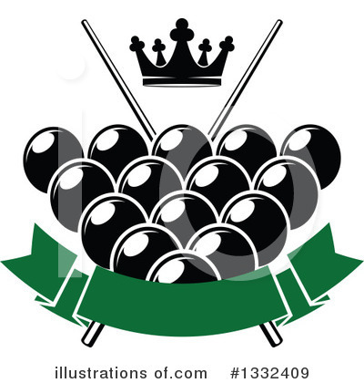Billiards Clipart #1332409 by Vector Tradition SM