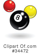 Billiards Clipart #34472 by AtStockIllustration