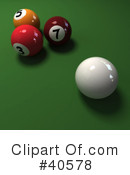 Billiards Clipart #40578 by Frank Boston