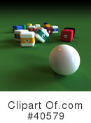 Billiards Clipart #40579 by Frank Boston