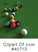 Billiards Clipart #40713 by Frank Boston