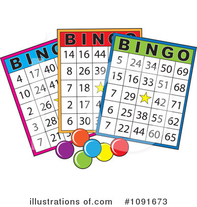 Royalty-Free (RF) Bingo Clipart Illustration by Maria Bell - Stock Sample #1091673