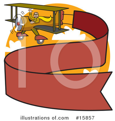 Biplane Clipart #15857 by Andy Nortnik