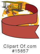 Royalty-Free (RF) Biplane Clipart Illustration #15857