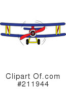 Royalty-Free (RF) Biplane Clipart Illustration #211944