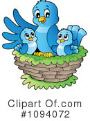 Royalty-Free (RF) Bird Clipart Illustration #1094072