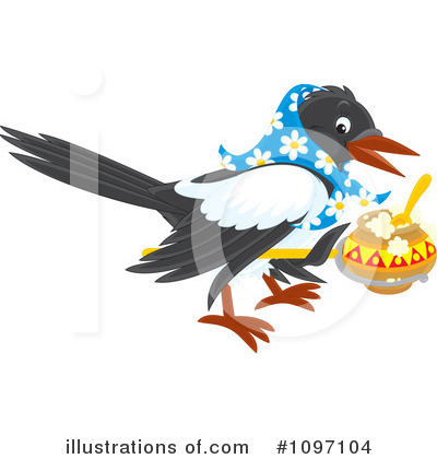 Magpie Clipart #1097104 by Alex Bannykh