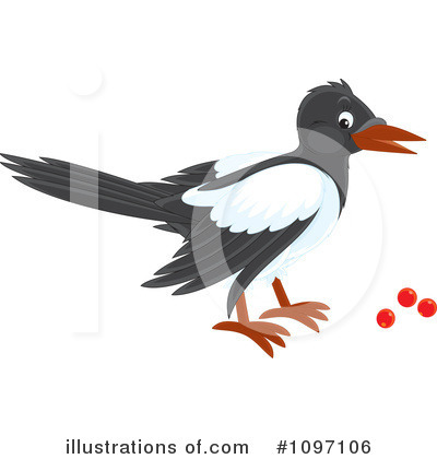Magpie Clipart #1097106 by Alex Bannykh
