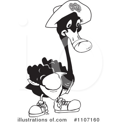 Black Swan Clipart #1107160 by Dennis Holmes Designs