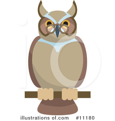 Wise Clipart #11180 by AtStockIllustration