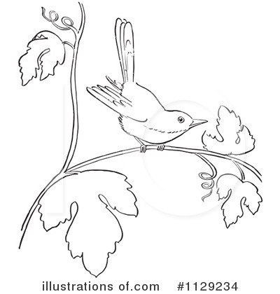 Royalty-Free (RF) Bird Clipart Illustration by Picsburg - Stock Sample #1129234