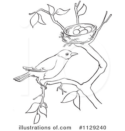 Royalty-Free (RF) Bird Clipart Illustration by Picsburg - Stock Sample #1129240