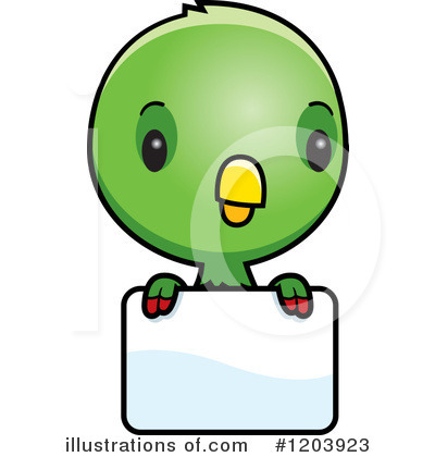 Parrot Clipart #1203923 by Cory Thoman