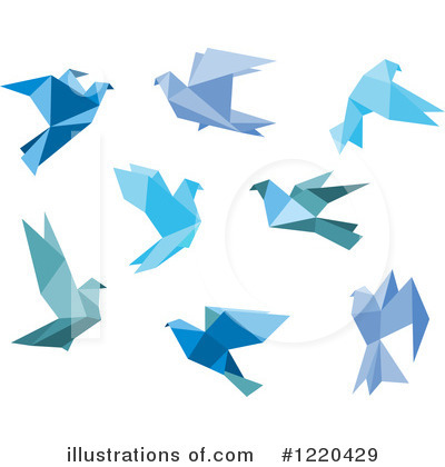Blue Bird Clipart #1220429 by Vector Tradition SM
