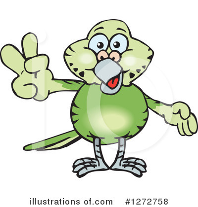 Parakeet Clipart #1272758 by Dennis Holmes Designs