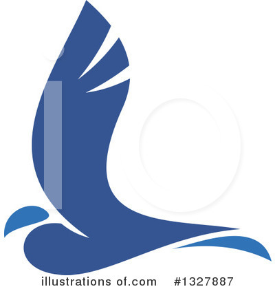 Blue Bird Clipart #1327887 by Vector Tradition SM