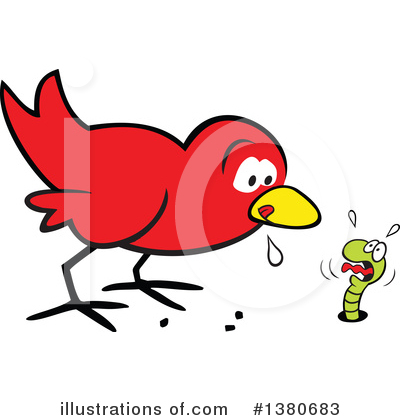 Royalty-Free (RF) Bird Clipart Illustration by Johnny Sajem - Stock Sample #1380683