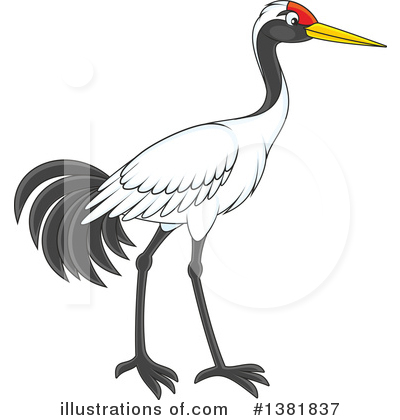 Crane Bird Clipart #1381837 by Alex Bannykh