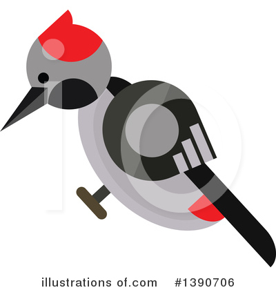 Woodpecker Clipart #1390706 by Vector Tradition SM