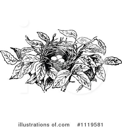 Royalty free rf bird nest clipart illustration 1119581 by prawny