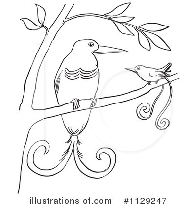 Royalty-Free (RF) Bird Of Paradise Clipart Illustration by Picsburg - Stock Sample #1129247