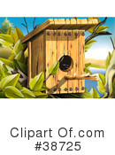 Royalty-Free (RF) Birdhouse Clipart Illustration #38725