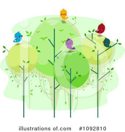 Trees Clipart #1092810 by BNP Design Studio