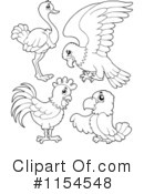 Royalty-Free (RF) Birds Clipart Illustration #1154548