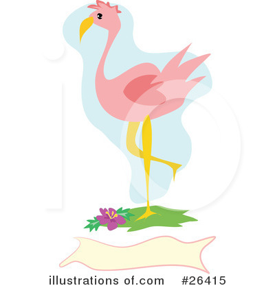 Flamingo Clipart #26415 by bpearth