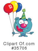 Birthday Bear Clipart #35706 by Hit Toon