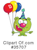 Birthday Bear Clipart #35707 by Hit Toon