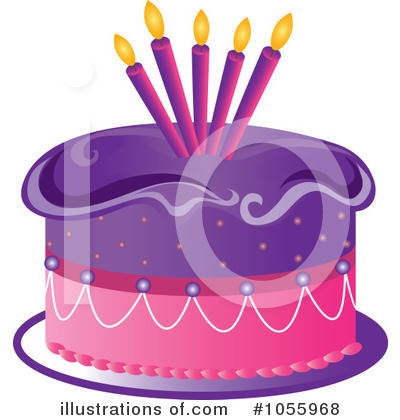 Birthday Cake Clipart #1055968 by Pams Clipart