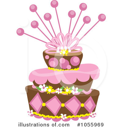 Birthday Cake Clipart #1055969 by Pams Clipart