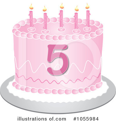 Royalty-Free (RF) Birthday Cake Clipart Illustration by Pams Clipart - Stock Sample #1055984